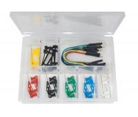 Комплект микрозажимов с проводами в пластиков ом кейсе 6800-12